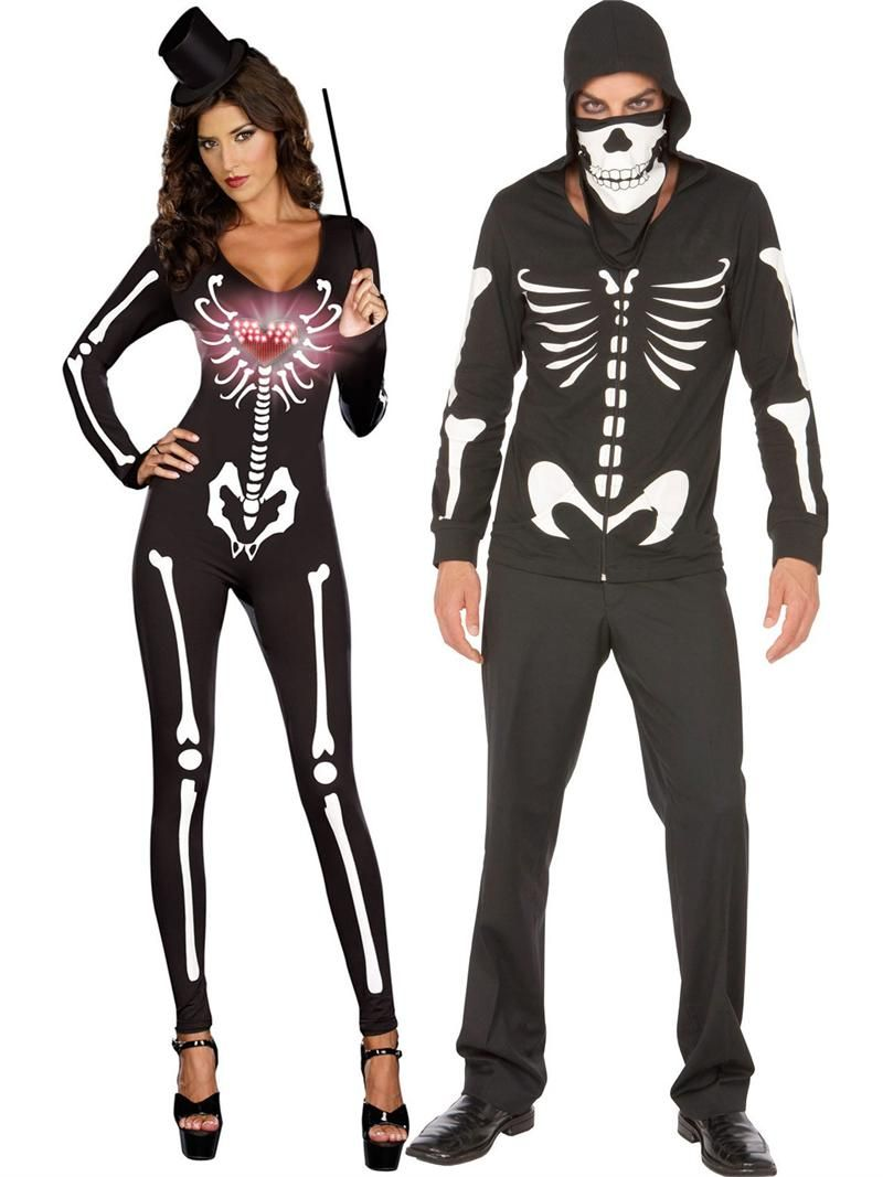 skeleton couples costumes, halloween costumes couples, pin10 for 10
