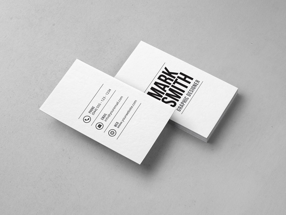 Minimal Business Card Template 28 - http://graphicpick.com/downloads ...