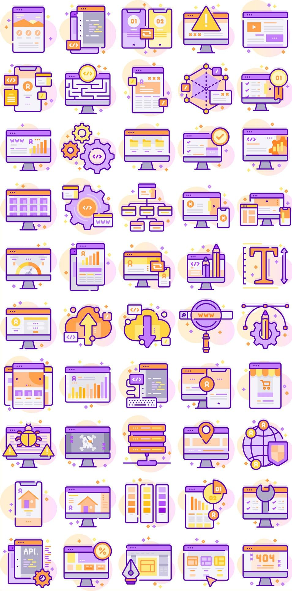 Web Development Iconset (SVG,PNG Programme, Graphisme