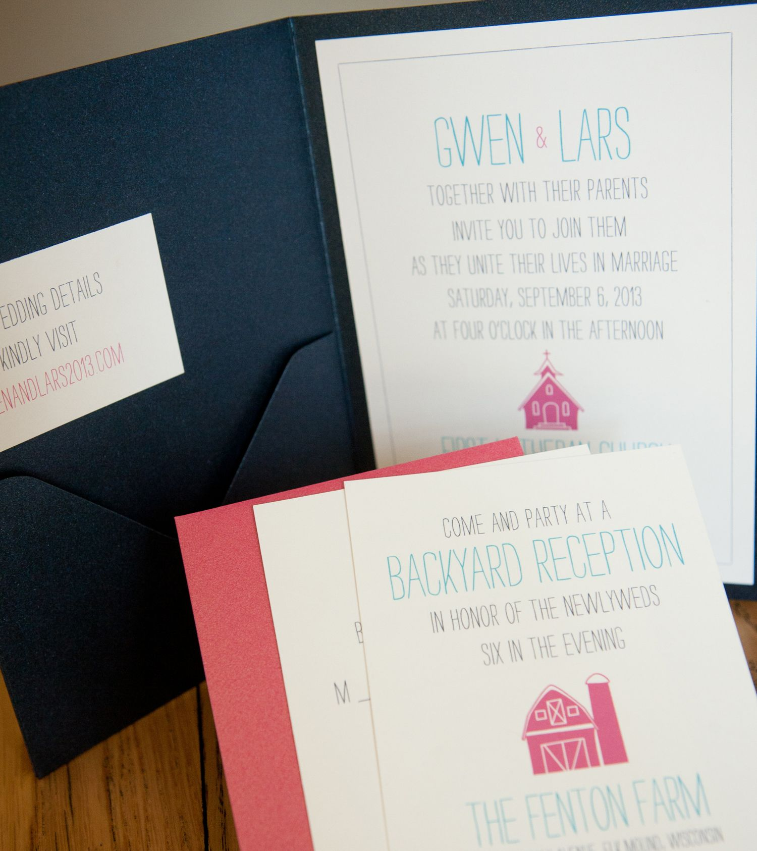 farm barn style wedding invites www.designsbyrenee.biz   My wedding ...