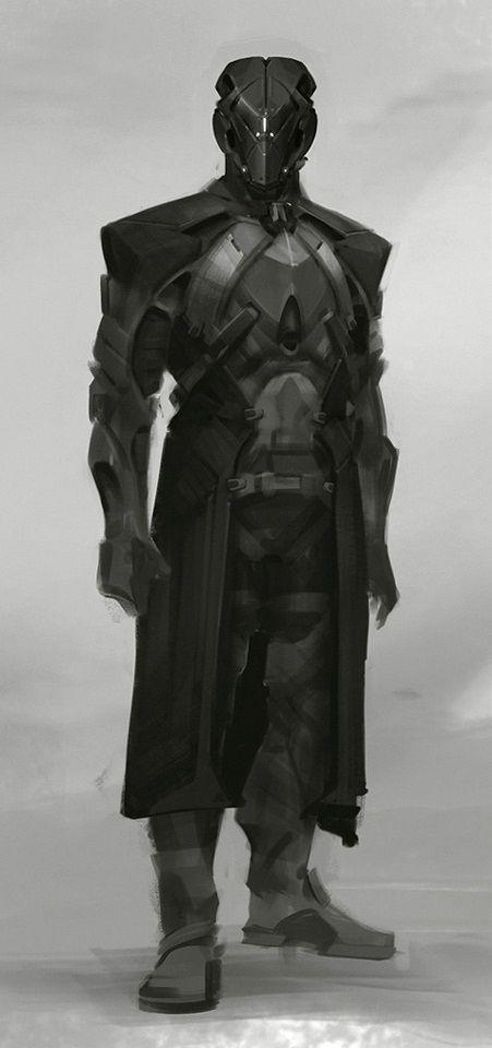timeless design ed897 69214 grey jedi knight concept art warrior black cyborg commander unit cyber  soldier concept art character design