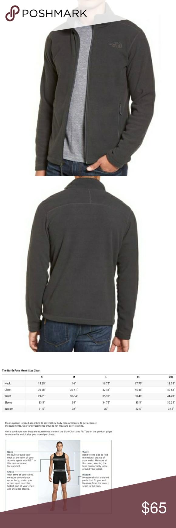 New grey north face zip jacket xxl long sleeve north face fleece