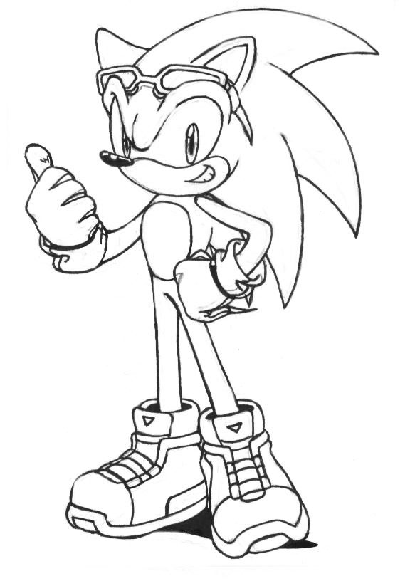 Sonic Riders Sonic Coloring Pages To Print Coloring Pages
