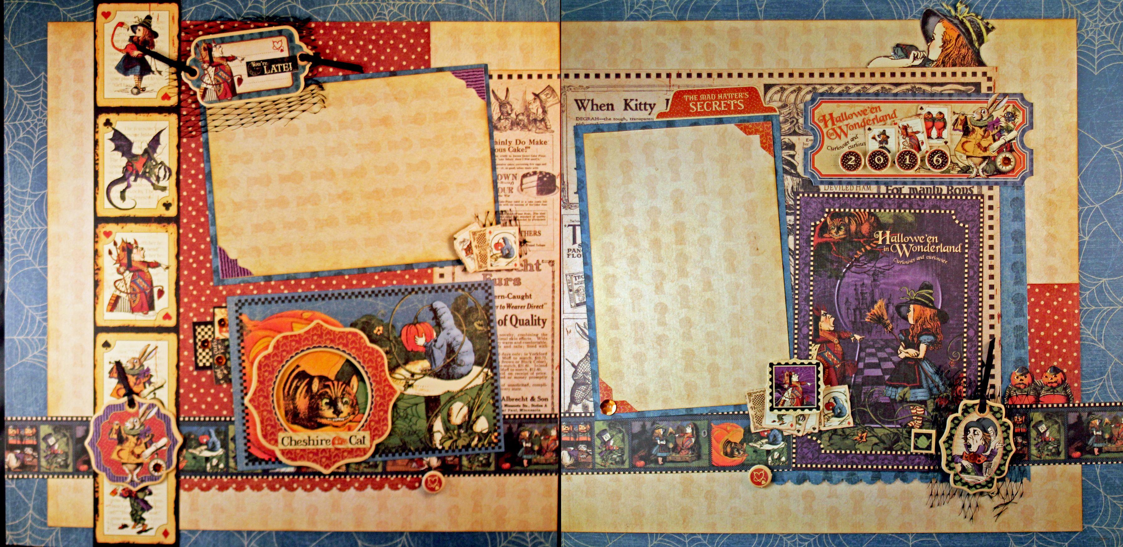 Halloween In Wonderland Scrapbook Graphic 45 Halloween In