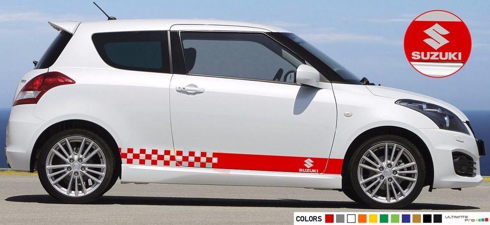Sticker Decal Stripe For Suzuki Swift Sport Carbon Lowering