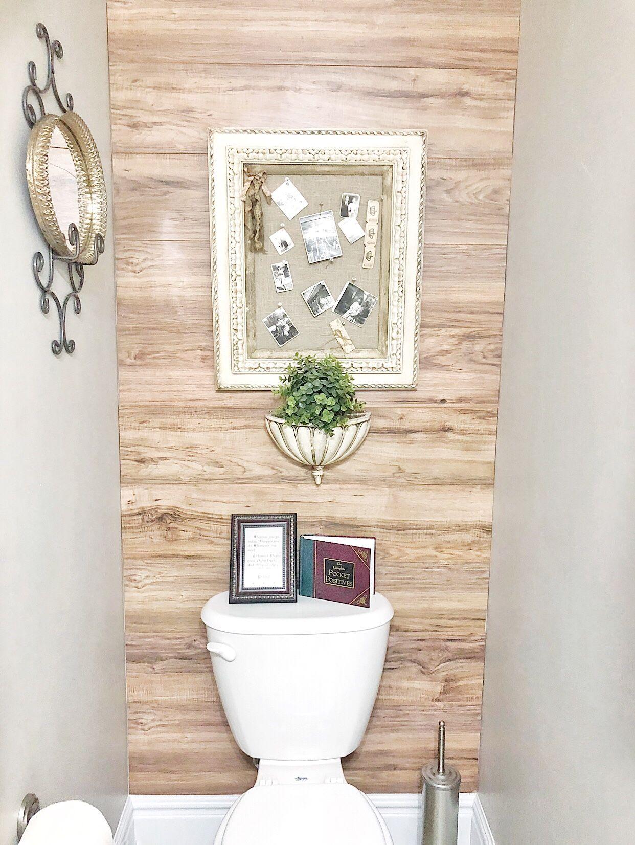 Diy Laminate Wood Wall Wood Wall Bathroom Wood Laminate Wooden Bathroom