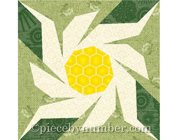 Edelweiss flower quilt block pattern, paper piecing patterns, garden ...