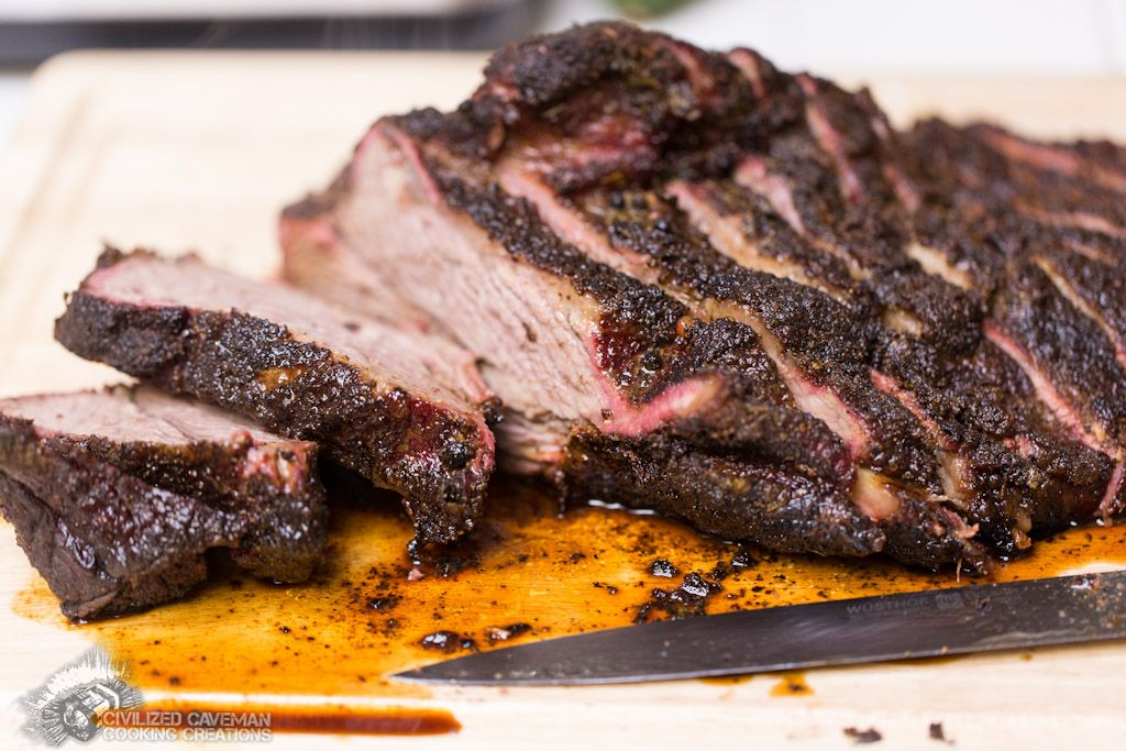 Smoked Brisket with Citrus Marinade.  Best meat I have ever made or had.  #paleo #recipes #meat #bbq