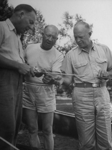 454340e68c7ac General Dwight D. Eisenhower Fishing at Lake with His Brothers ...