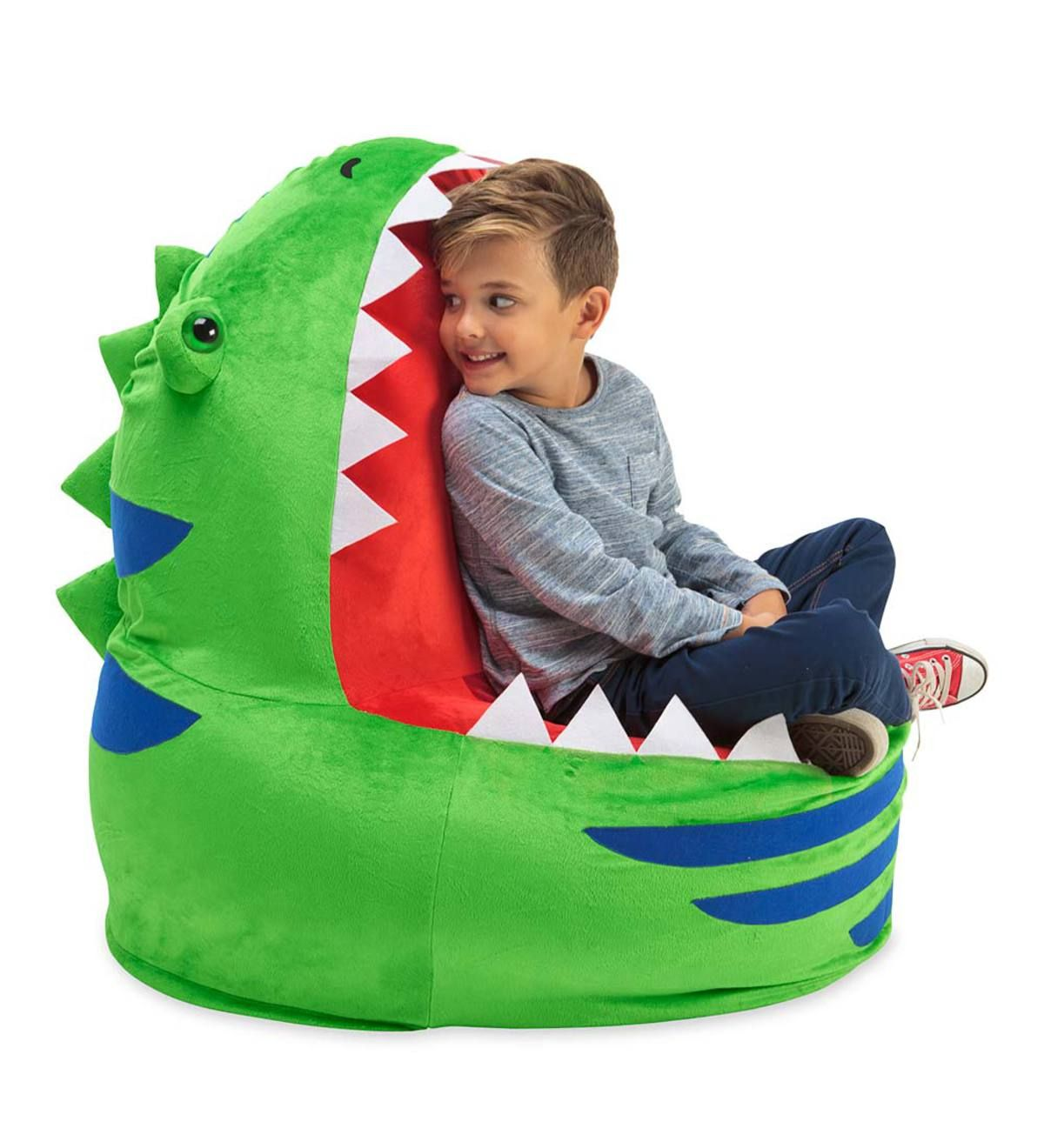 Our Inflatable Dino Chair is a truly awesome place to sit, but is