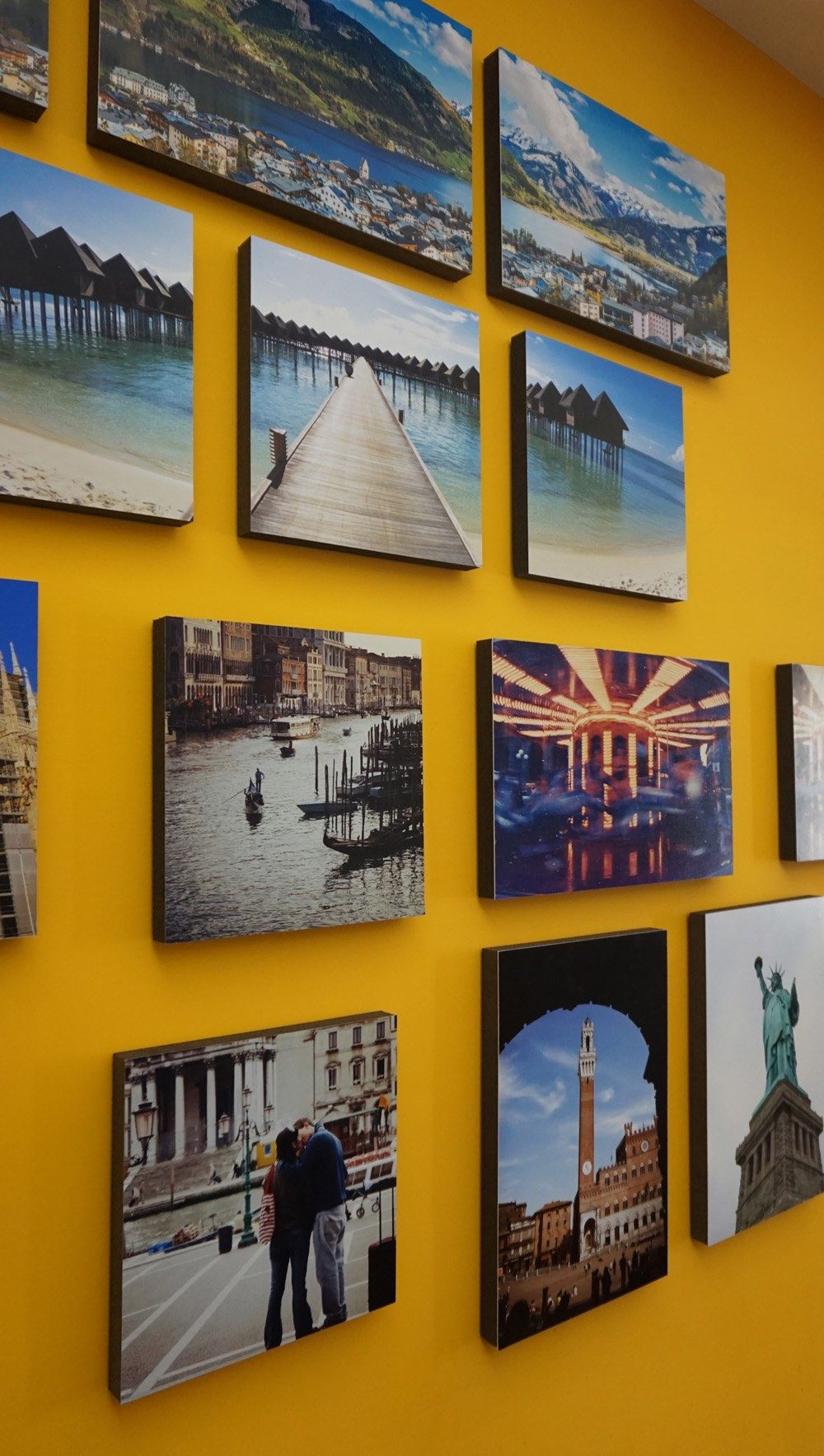 Hang your photos without nails turn your walls into real
