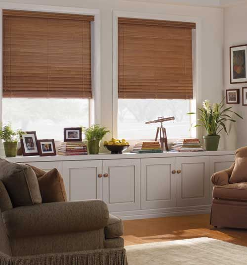 Levolor 2 1 2 Faux Wood Blinds Shown In Pecan Wood Blinds