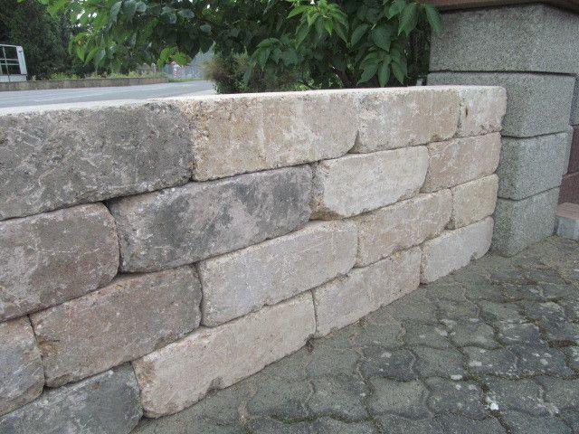 Trockenmauerstein für den Garten oder Blumenbeete 42x21x14 cm ...