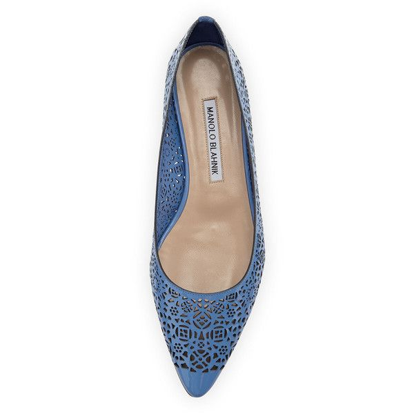 Manolo Blahnik Suede Laser Cut Flats visit cheap price how much cheap price outlet locations cheap price OXvDK