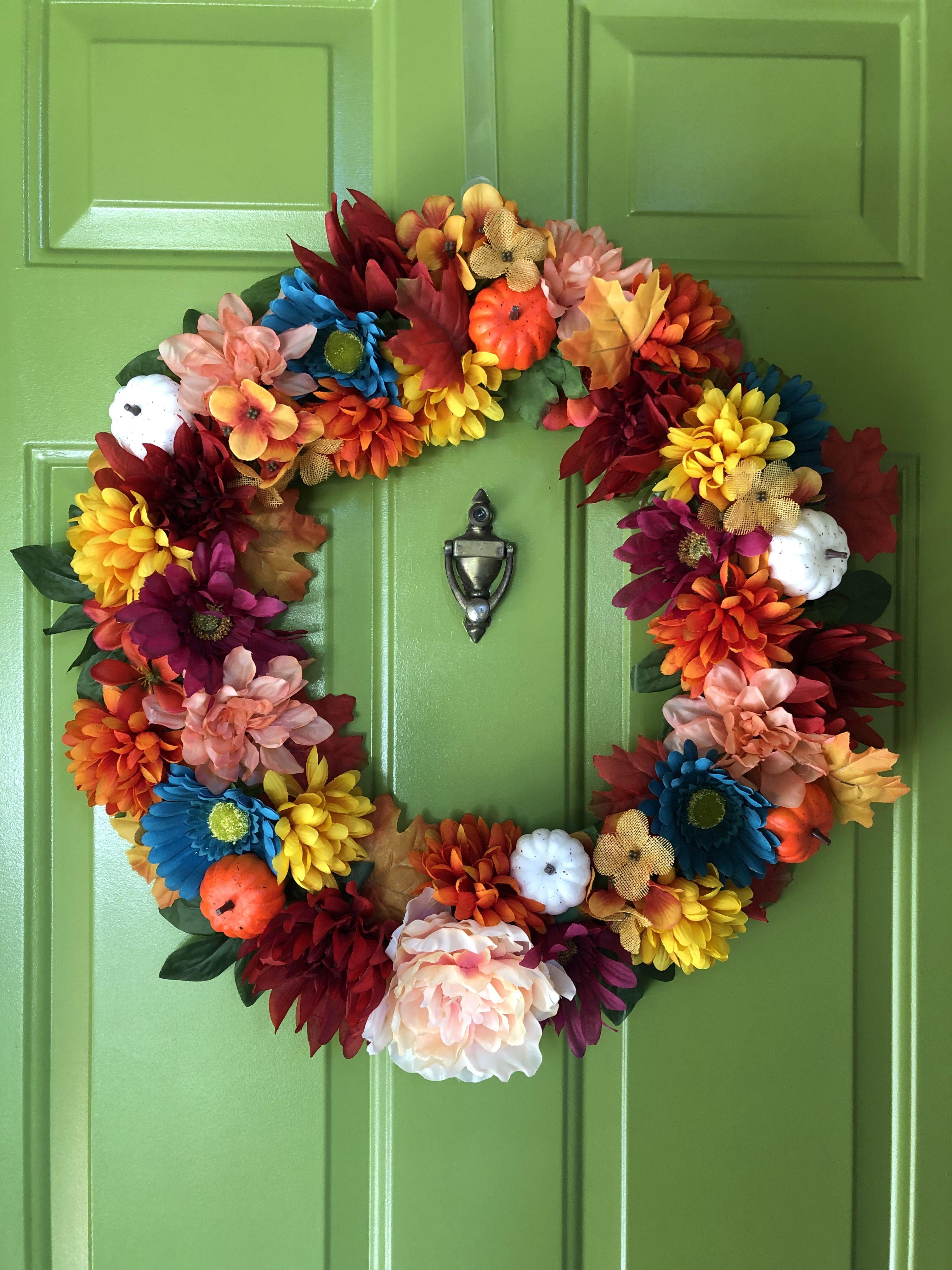 DIY fall wreath, all from Dollar Tree! Diy fall wreath