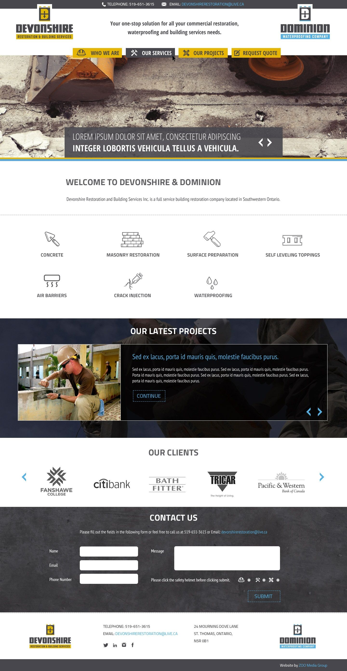 Website Design For 2 Contractor Businesses Serving Different Target Audiences By Zoo Media Group Web Design Amazing Website Designs Web Development Agency