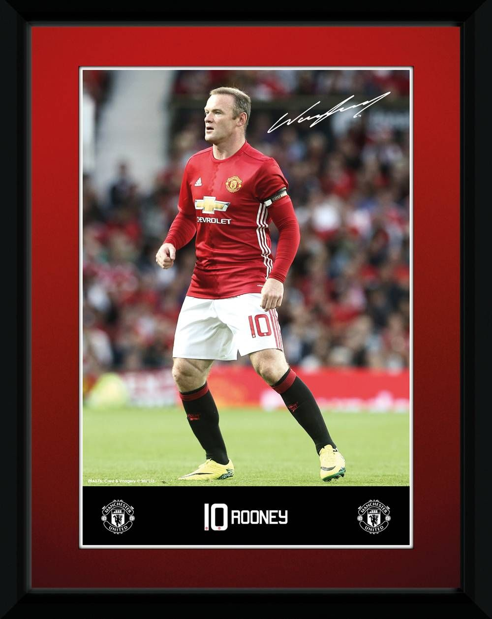 Manchester United Rooney 16 17 Collector Print This Collector Print Features Both England And Manchester United Skipper Wayne Rooney Who Holds The Title As En