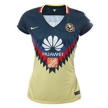 Women s+Club+America+Home+Jersey+2017 18+LIGA+MX+FUTBOL  c16393b38e