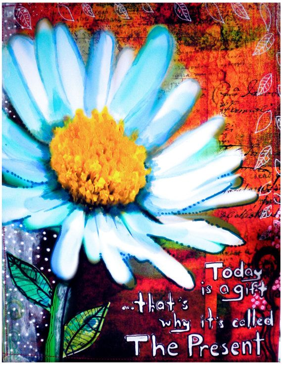 Today flowers art print archival print art by RobinMeadDesigns