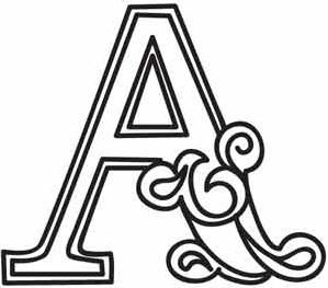 Cirque Letter A_image | Pic's To Draw & Color | Alphabet design