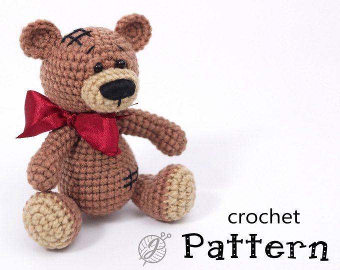 Teddy bear crochet PATTERN Amigurumi bear pattern DIY crochet bear ...