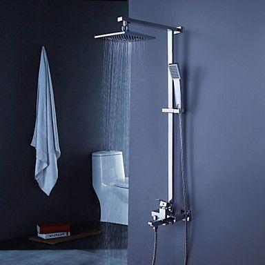 douche baignoire robinet contemporain avec pomme de douche 8 pouces avec douche à main