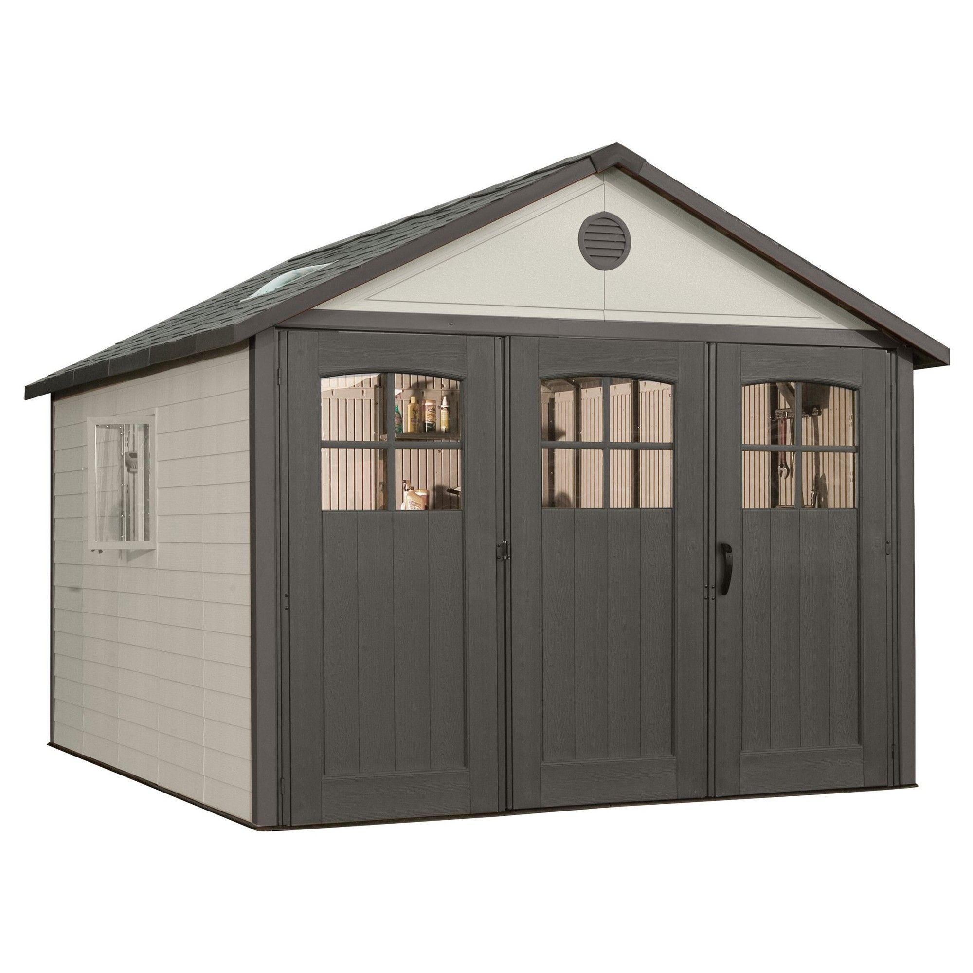 Storage Building Shed 11 X 11 Gray Lifetime Outdoor Sheds Outdoor Storage Sheds Building A Shed