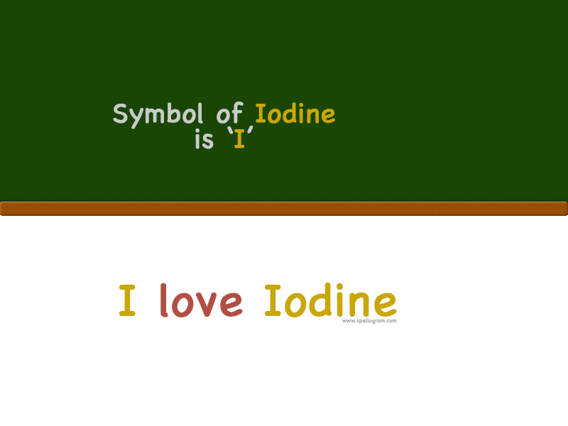 Trick To Remember The Chemical Symbol Of Element Iodine Chemistry