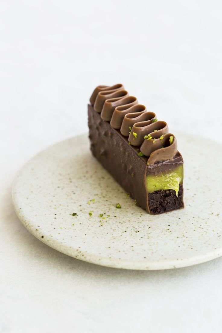 Pistaciebrownie Med Billeder Dessert