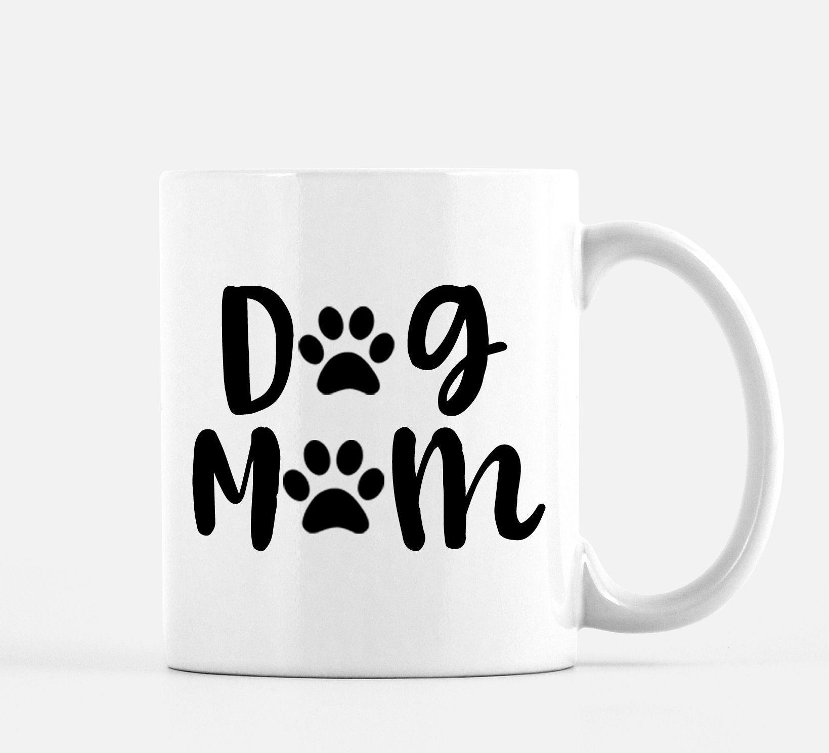 Dog mom coffee mug etsy mom coffee mugs dog mom