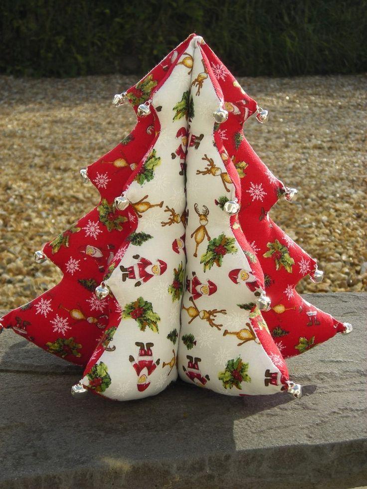 40 Fabric Christmas Tree Decorations Ideas Decoration Love Fabric Christmas Decorations Fabric Christmas Trees Christmas Tree Crafts