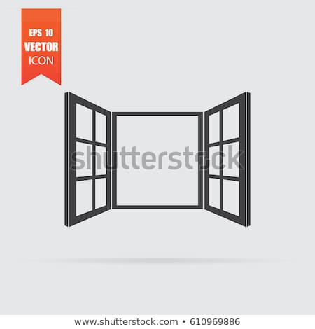 Open Window Icon In Flat Style Isolated On Grey Background For Your Design Logo Vector Illustration In 2020 Open Window Window Illustration Windows
