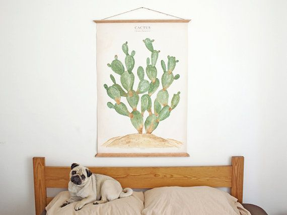 hi! This is a Large poster with an illustration of a Opuntia Jamaicensis. This illustration is a reproduction of original drawings created and painted by