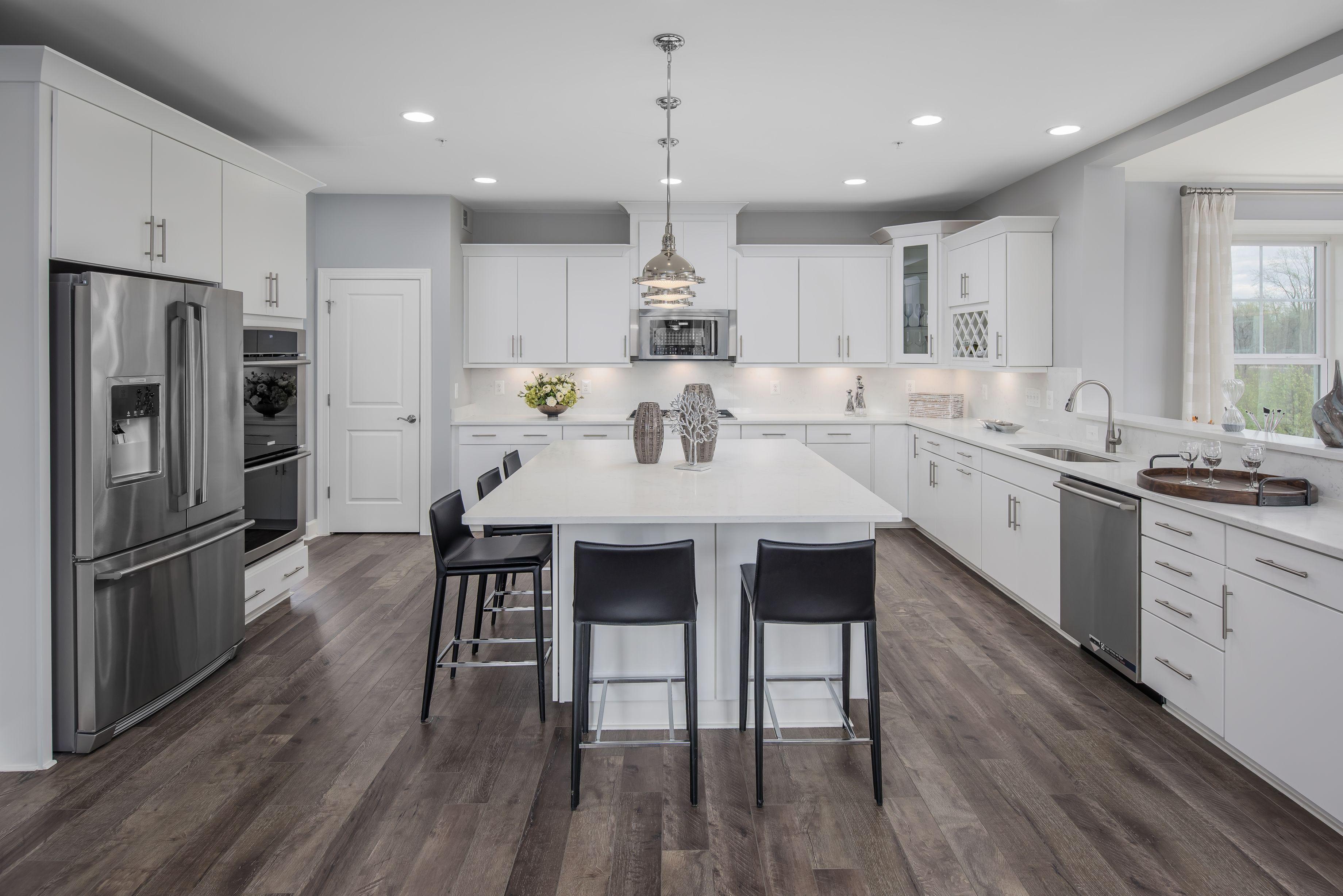 The Lexington At Parkside White Kitchen Design Home Kitchens House Flooring