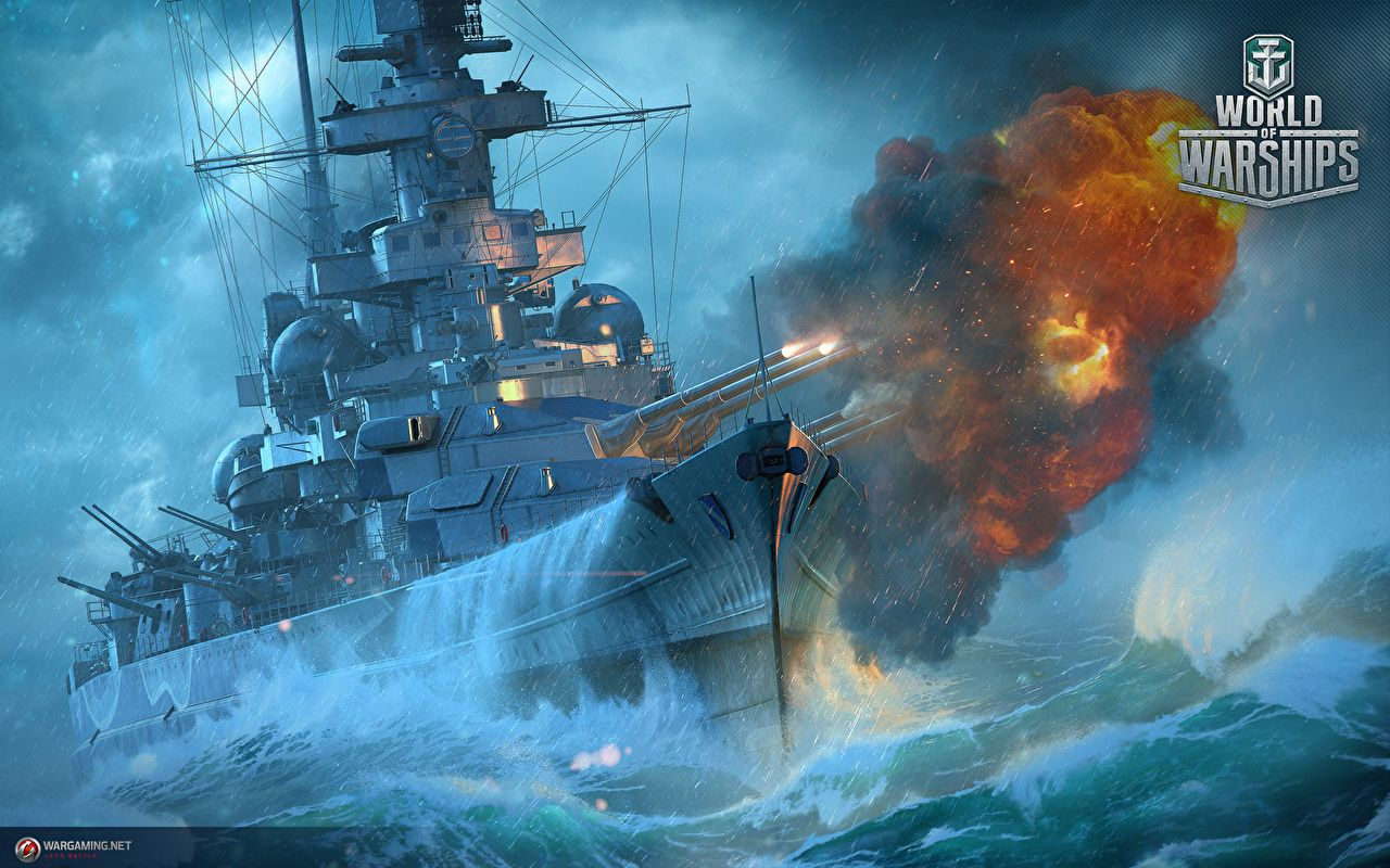 Pictures World Of Warship Firing German Battleship Scharnhorst