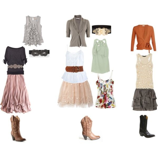 Outdoor Wedding Outfit Ideas: Fun Outfits For The Rodeo Or Shabby Country Wedding What