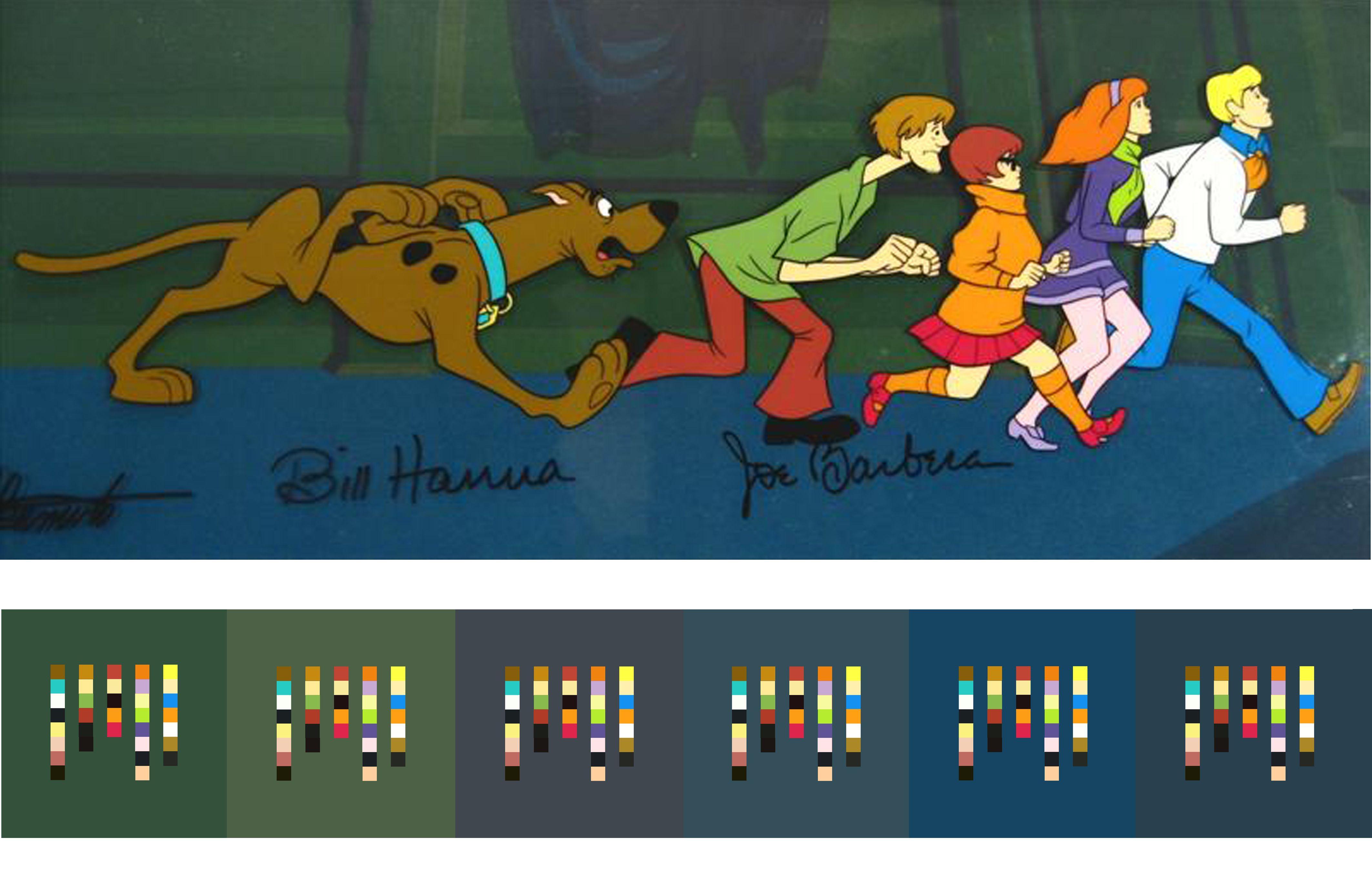 scooby doo color scheme palettes animation pinterest scooby doo scooby doo color scheme