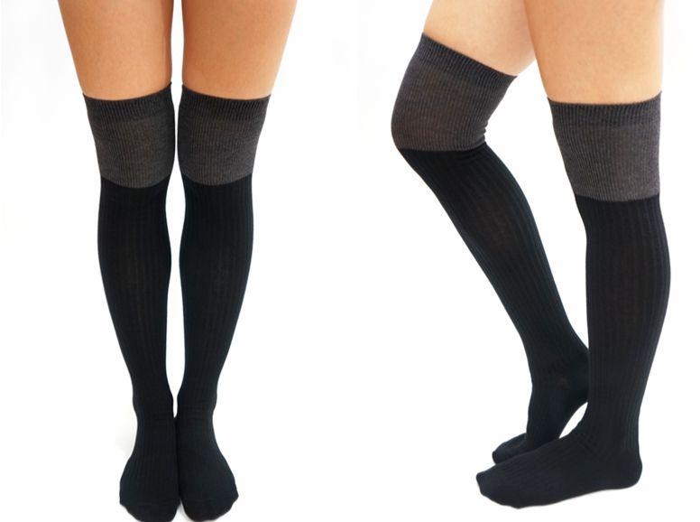 thigh high socks/ knee socks