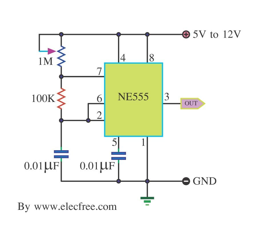 Generator Circuit Using Crystal Oscillator Electronic Circuits
