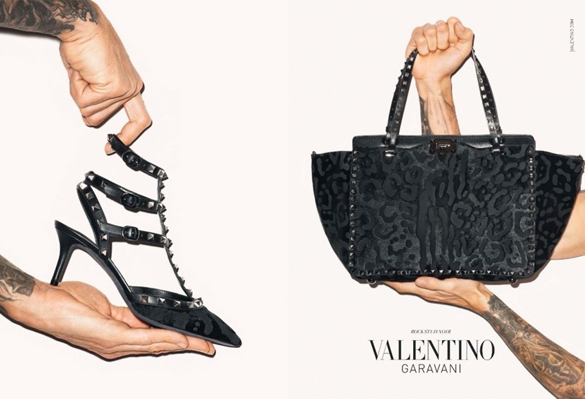 a7aa4f13c2 Valentino Fall/Winter 2013-2014 Rockstud Noir campaign. Photographed and  modeled by Terry Richardson.