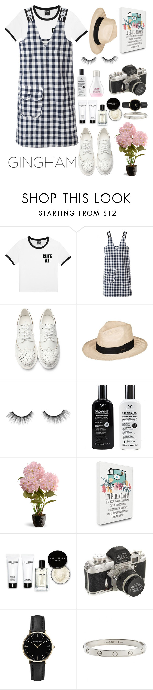 """""""GINGHAM LOOKS"""" by mariasanchristy ❤ liked on Polyvore featuring Peter Jensen, Roxy, tarte, Shiseido, National Tree Company, Stupell, Bobbi Brown Cosmetics, ROSEFIELD and Cartier"""