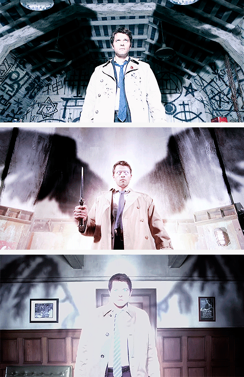 Castiel: What's an angel without its wings? #spn