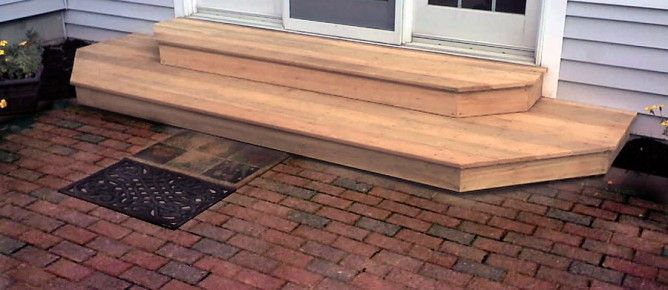 Steps Wood With Patio Patio Steps Patio Stairs Wooden Steps