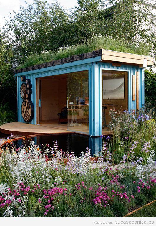 casas hechas con contenedores mar timos y tejados jard n 5 casas exoticas pinterest maison. Black Bedroom Furniture Sets. Home Design Ideas