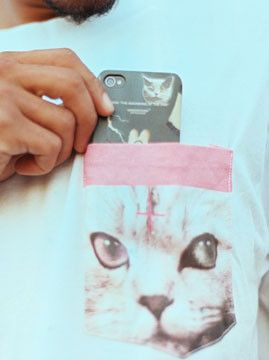I hope OFWGKTA do their pop-up in London, I need this cat pocket tee in my life...
