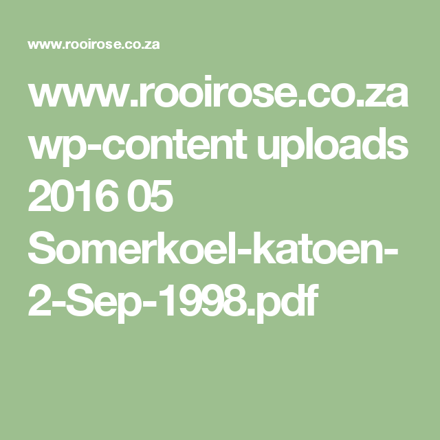 Wwwrooirosecoza Wp Content Uploads 2016 05 Somerkoel Katoen 2 Sep