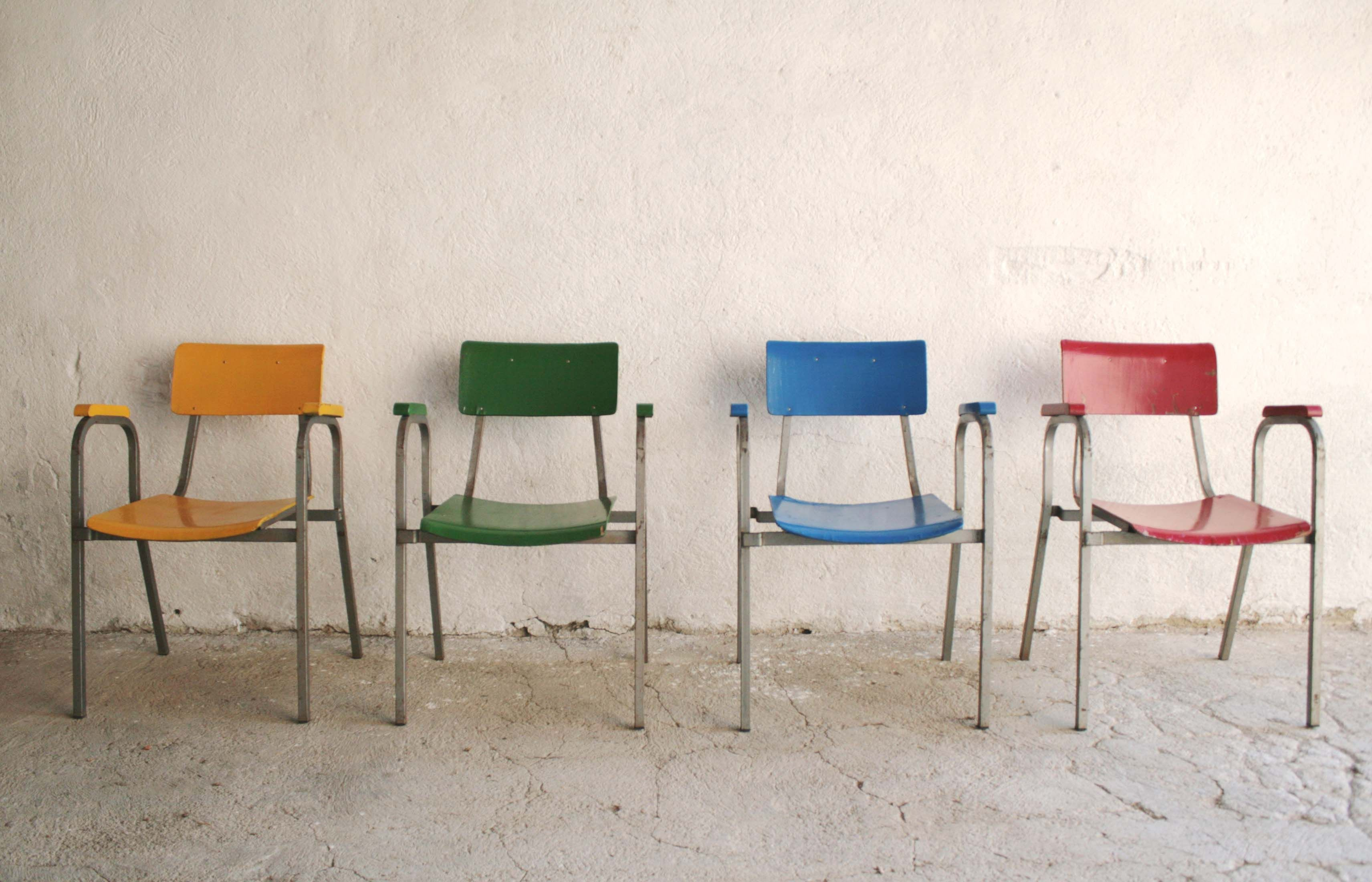 Sedie Industriali ~ Industria di arredi caloi 4 sedie industriali tubolare metallico
