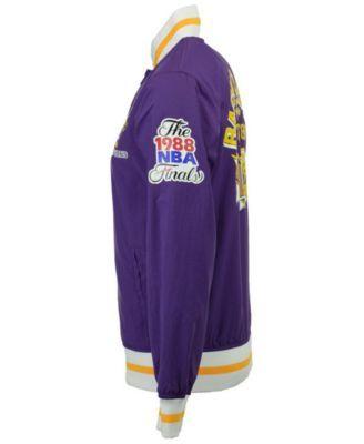 6138f822beb Mitchell & Ness Men's Los Angeles Lakers Team History Warm Up Jacket -  Purple S