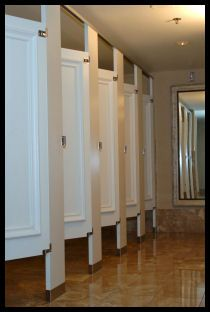 Ironwood Toilet Partitions With Molding On The Doors Toilet Stalls - Commercial bathroom stall doors
