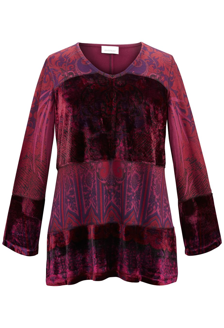 Plus Size Burgundy Velour Tunic Top Plus Size Tunics Avenue